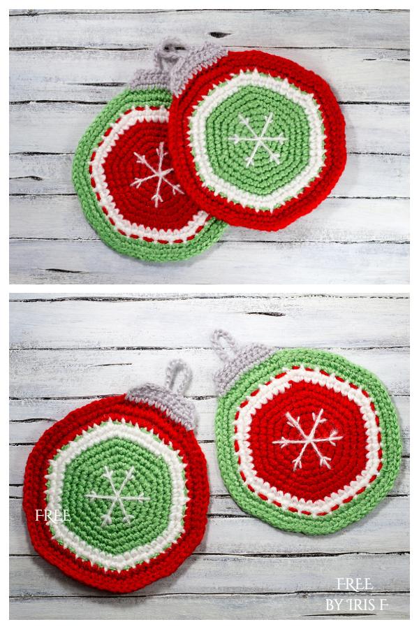 Christmas Ornament Potholder Free Crochet Patterns
