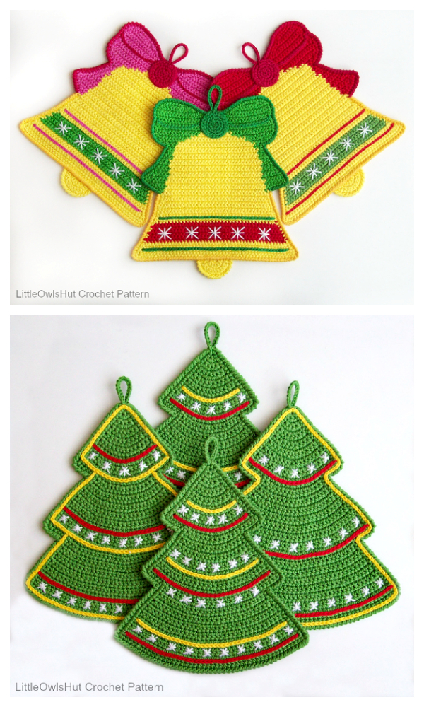 Christmas Potholder Free Crochet Patterns & Paid