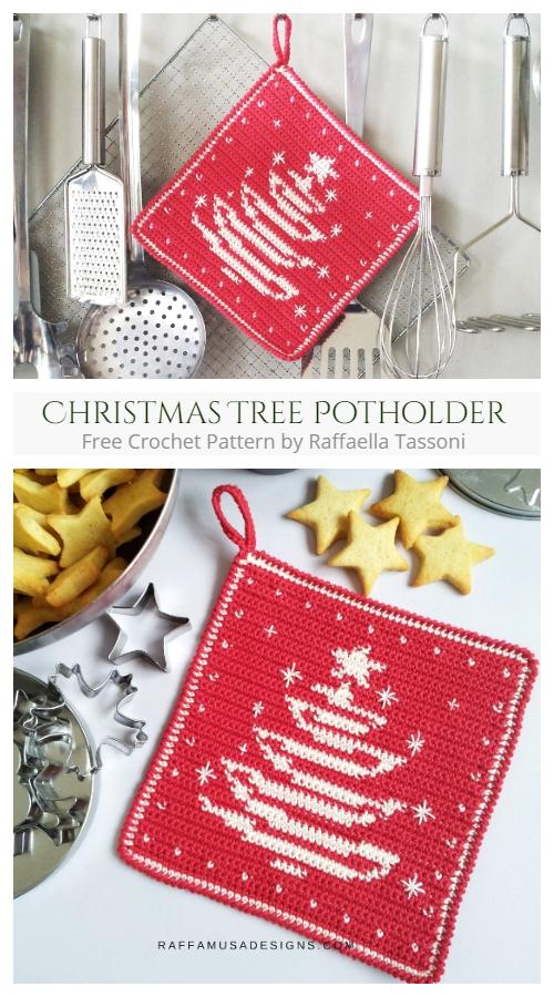 Christmas Tree Potholder Free Crochet Patterns