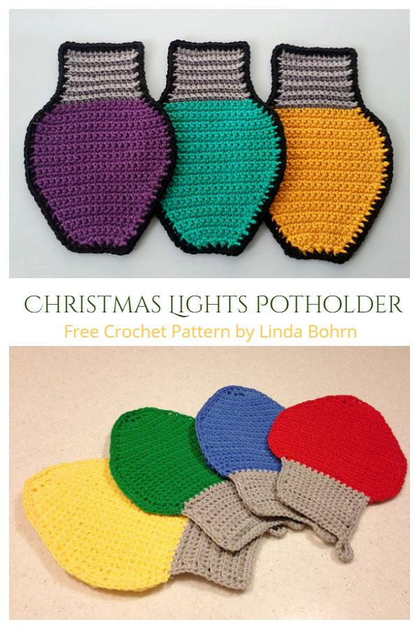 Christmas Lights Potholder Free Crochet Patterns