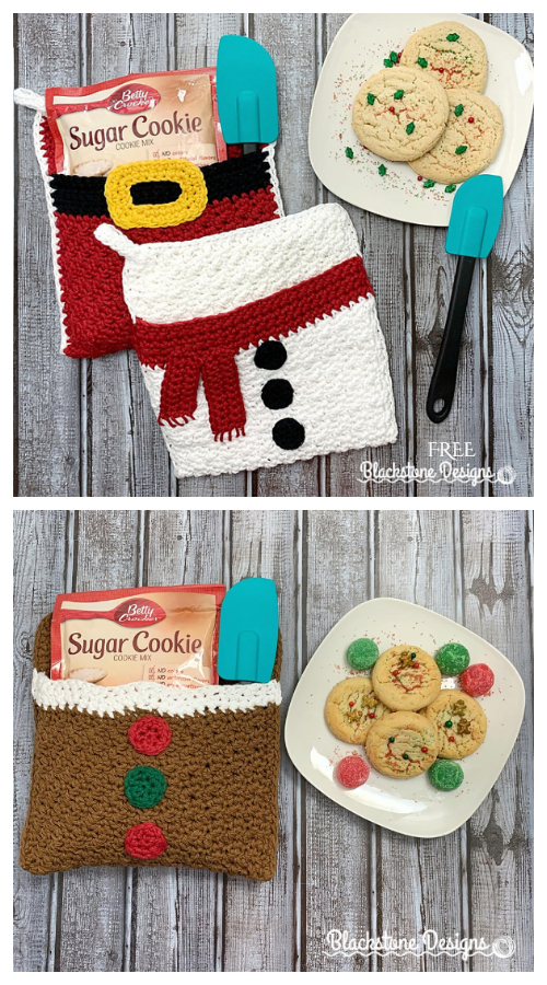 Christmas Belly Potholder Free Crochet Patterns
