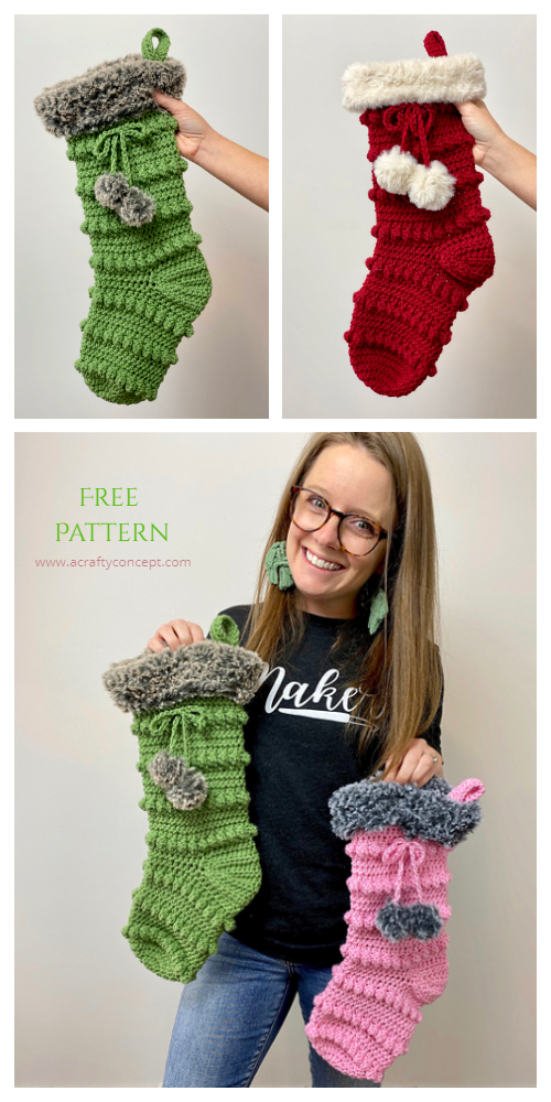 Crafty Boho Christmas Stockings Free Crochet Patterns