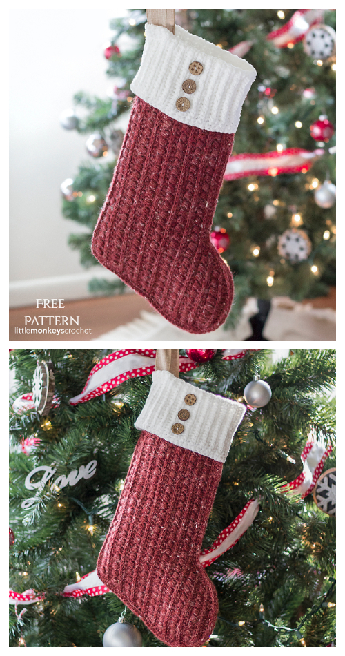 Malia Christmas Stockings Free Crochet Patterns