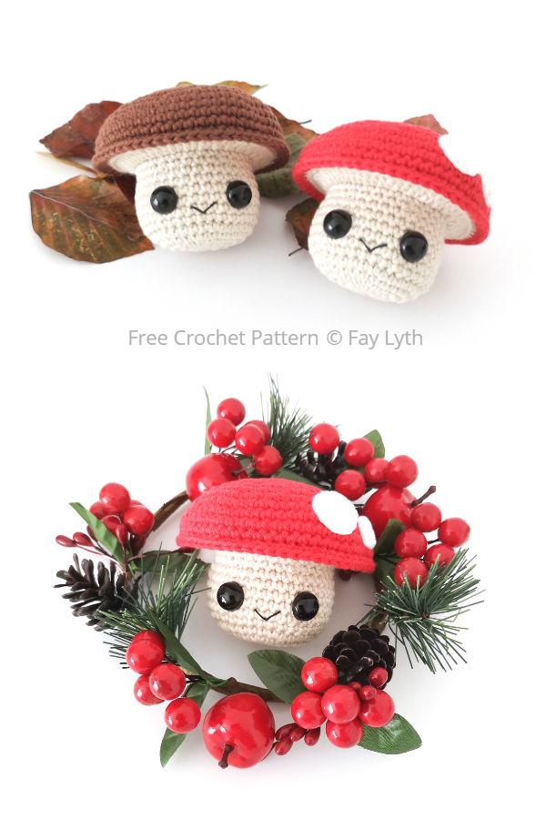 Crochet Mushroom Buddy Amigurumi Free Patterns