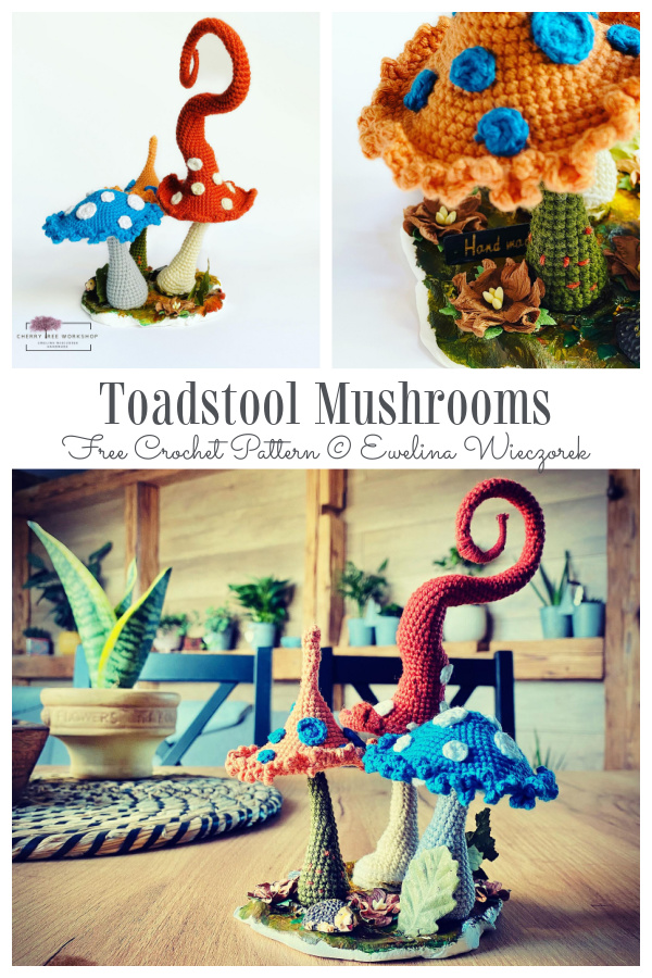 Crochet Toadstool Mushrooms Amigurumi Free Patterns