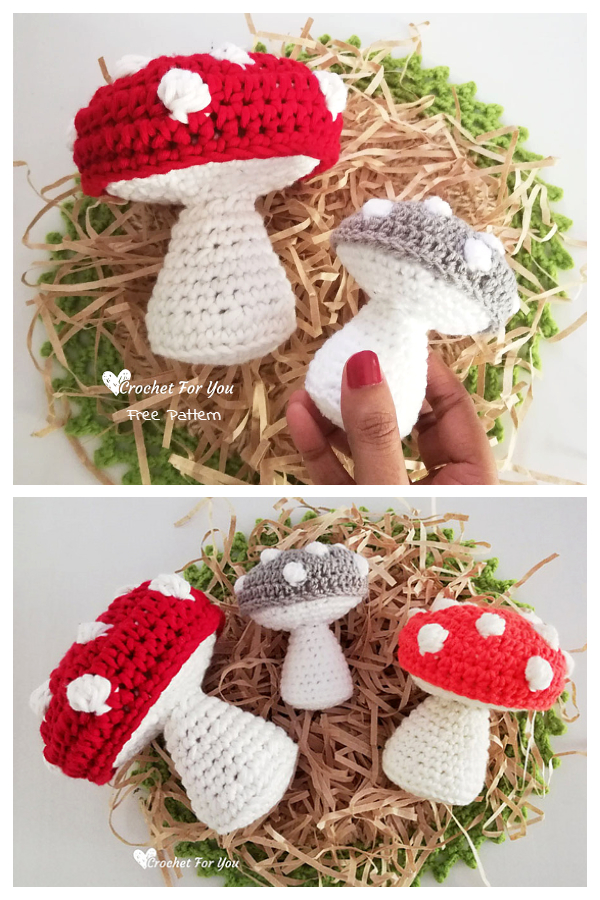 Crochet Mushroom Amigurumi Free Patterns