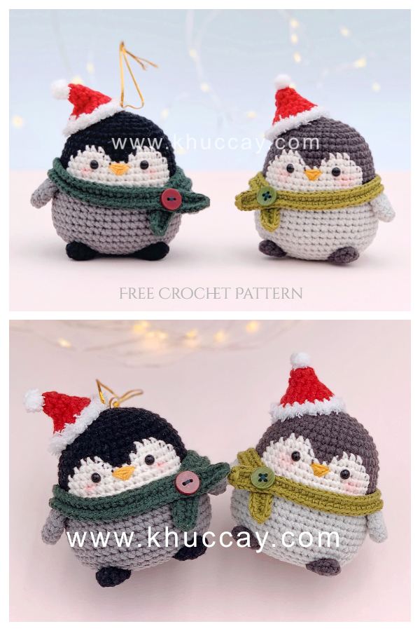 Crochet Christmas Baby Penguin Amigurumi Free Patterns