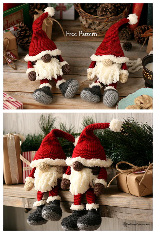 Crochet Santa Gnome Amigurumi Free Patterns