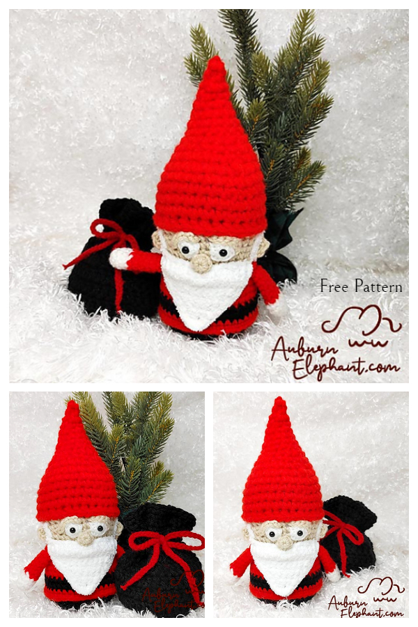 Crochet Santa the Gnome Amigurumi Free Patterns
