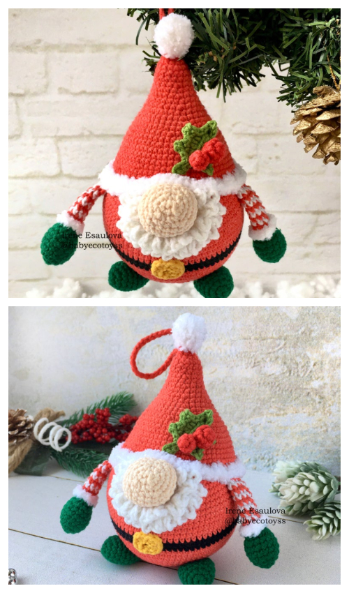 Crochet Santa Gnome Amigurumi Patterns