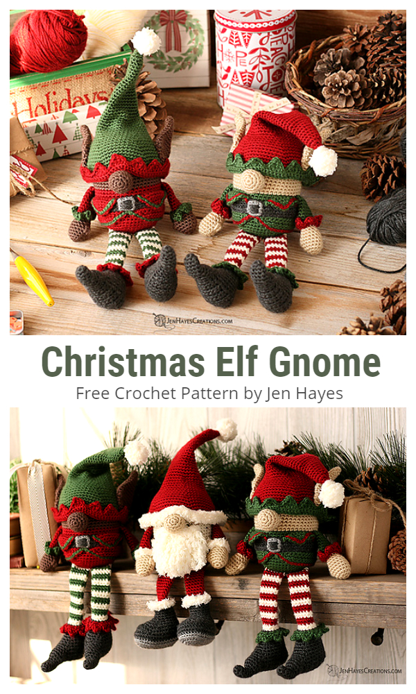 Crochet Christmas Elf Gnome Amigurumi Free Patterns