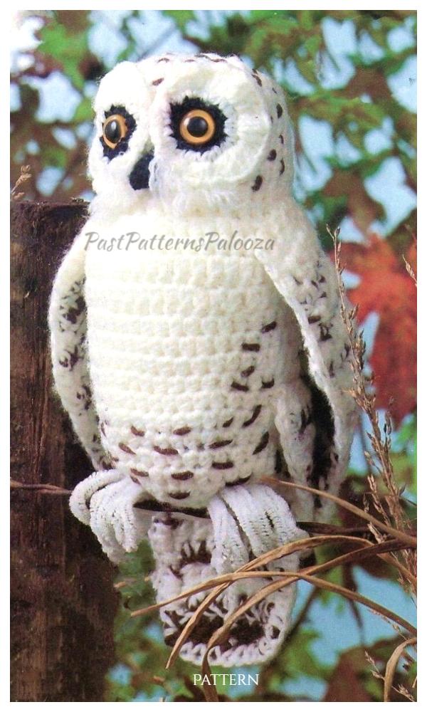 Vintage Crochet Snowy Owl Amigurumi Patterns