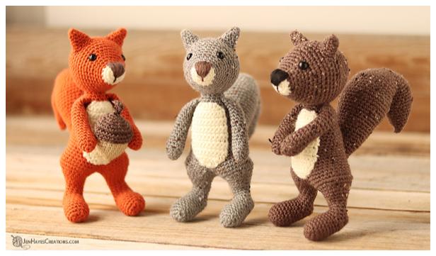 Crochet Little Cube Squirrel Amigurumi Free Patterns
