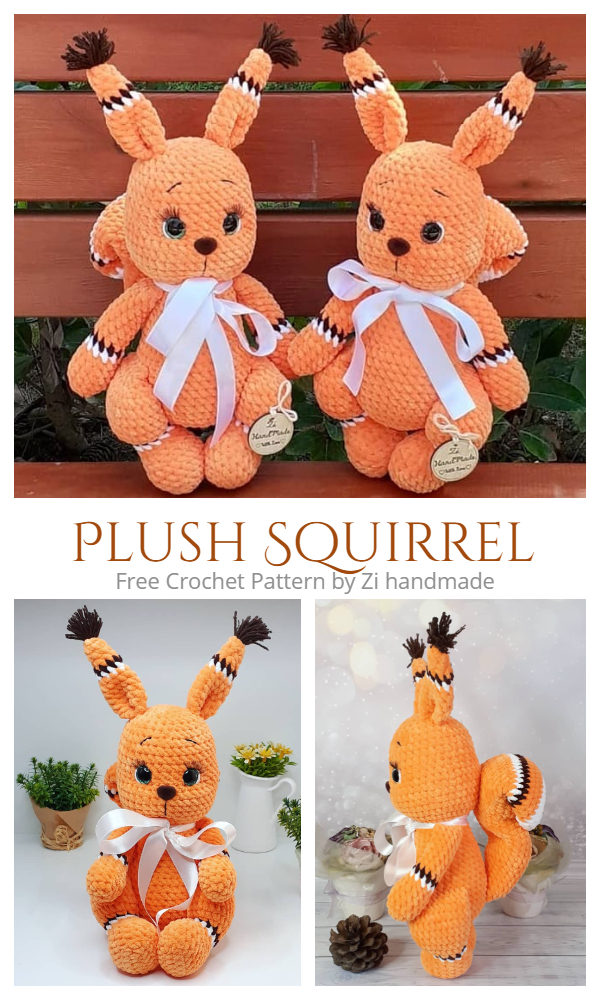 Crochet Plush Squirrel Amigurumi Free Patterns