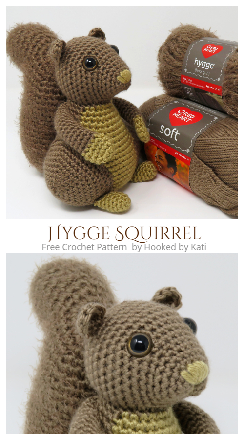 Crochet Hygge Squirrel Amigurumi Free Patterns