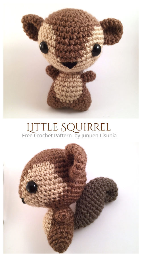 Crochet Little Squirrel Amigurumi Free Patterns