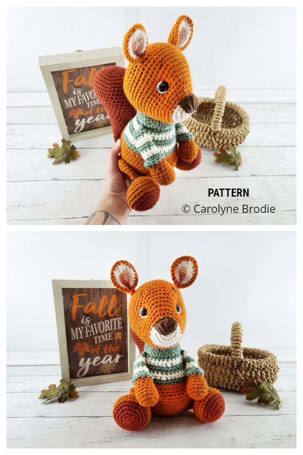 Crochet Chesnut the Squirrel Amigurumi Patterns