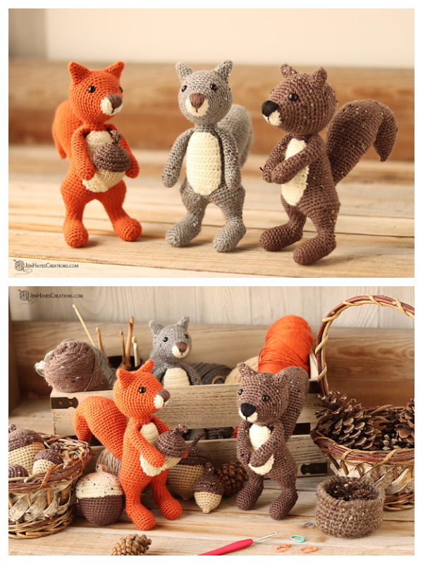 Crochet Squirrel Amigurumi Free Patterns