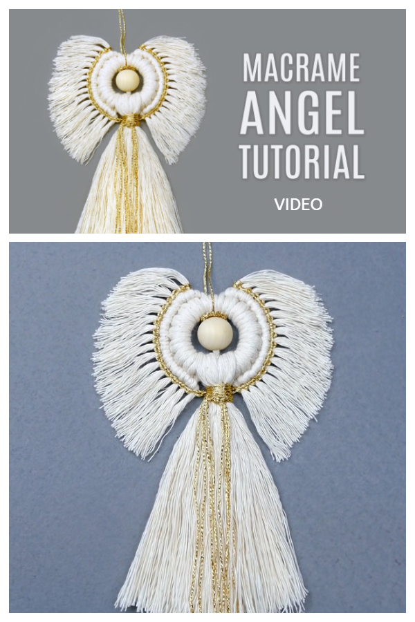 Fun Macrame Angel DIY Tutorial + Video