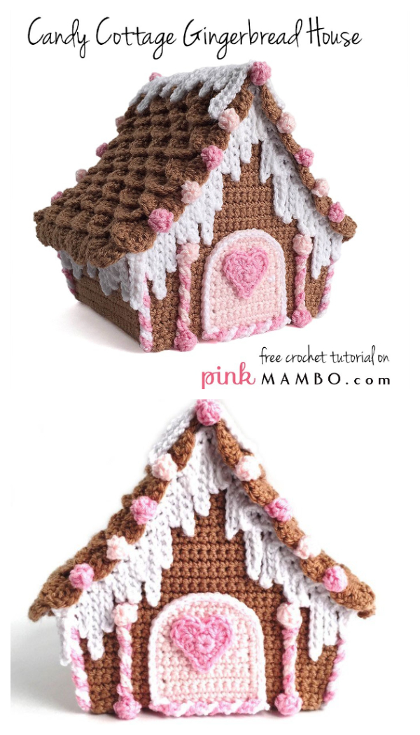 Candy Cottage Gingerbread House Free Crochet Patterns