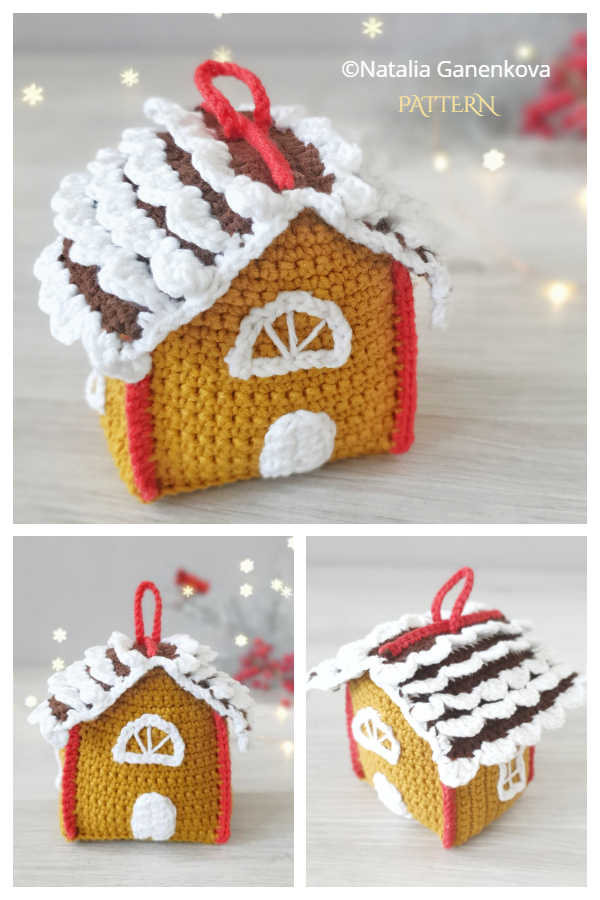 Christmas Gingerbread House Crochet Patterns