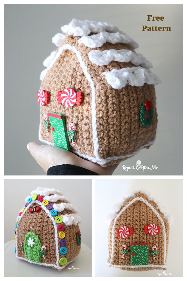 Christmas Gingerbread House Free Crochet Patterns
