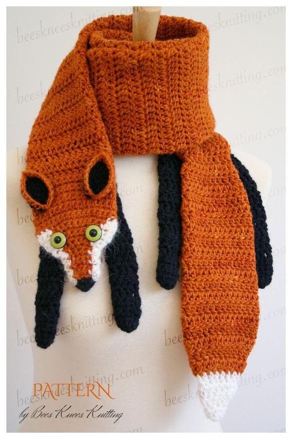 Fox Scarf Crochet Patterns