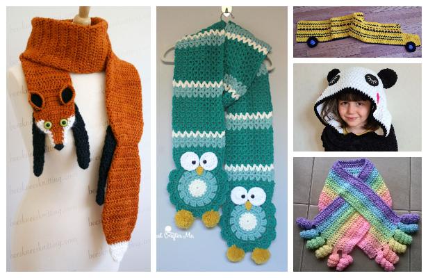 Kids Scarf Free Crochet Patterns