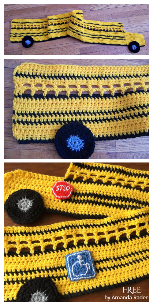 Bus Kids Scarf Free Crochet Patterns