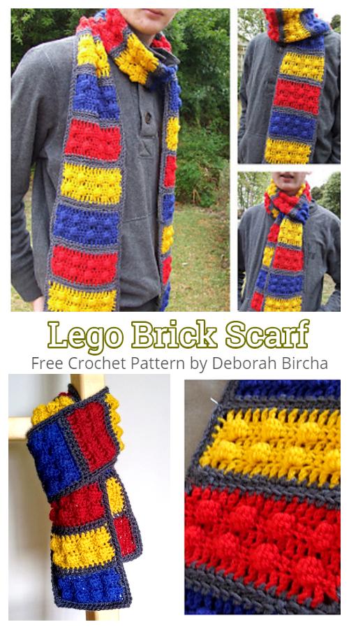 Lego Brick Scarf Free Crochet Patterns