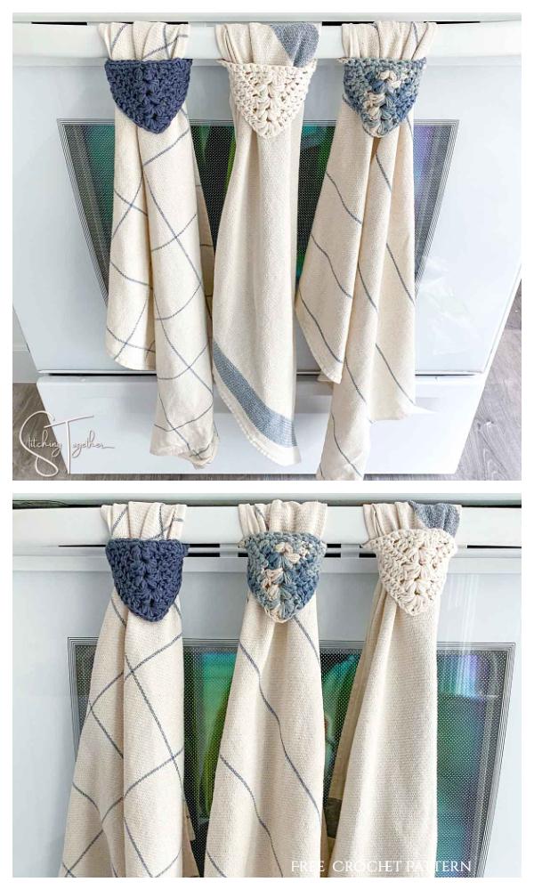 Modern Kitchen Towel Topper Free Crochet Patterns