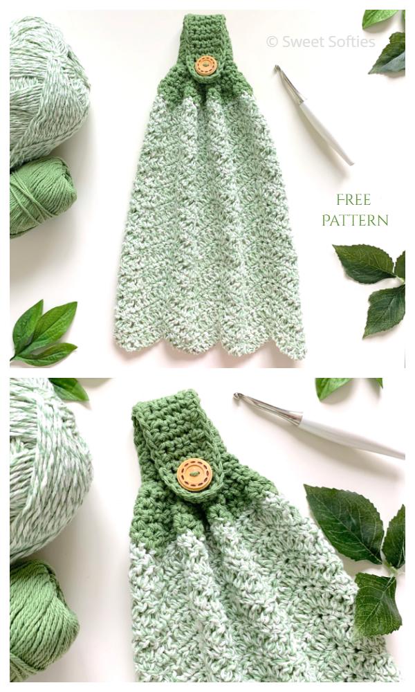 Kitchen Hand Towel Free Crochet Patterns