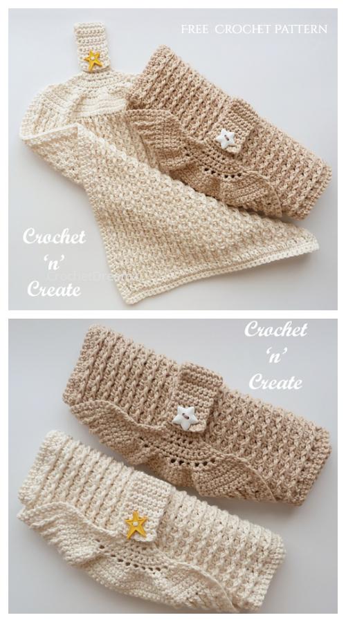 Guest/Kitchen Towel Free Crochet Patterns