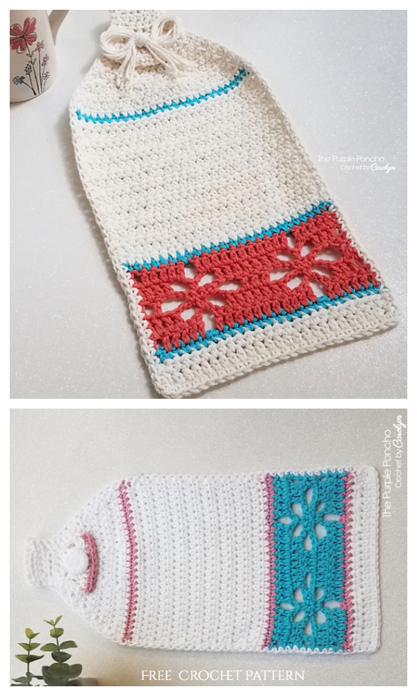 Floral Hand Towel Free Crochet Patterns