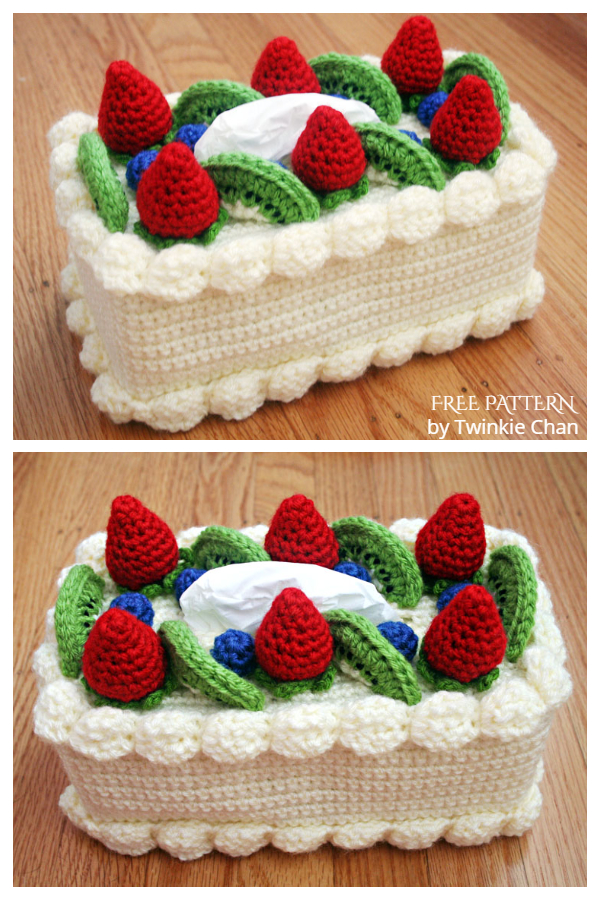 Cake Tissue Box Cozy Free Crochet Patterns