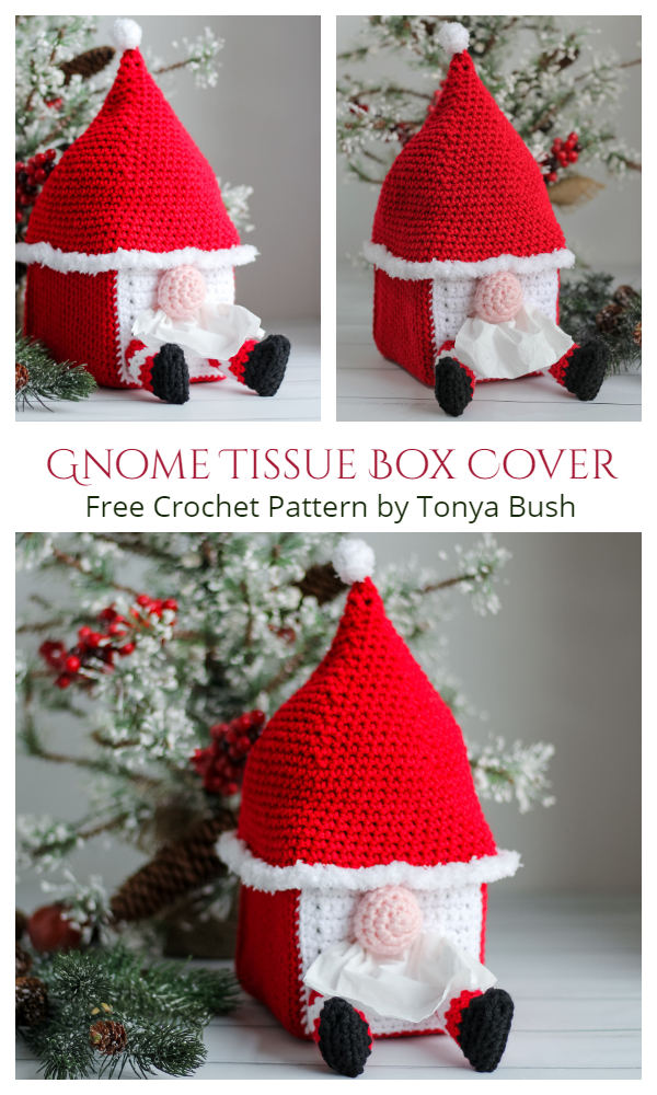 Gnome Tissue Box Cover Free Crochet Patterns