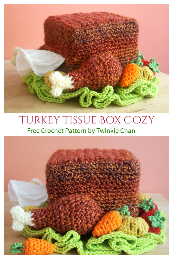 Turkey Tissue Box Cover Free Crochet Patterns