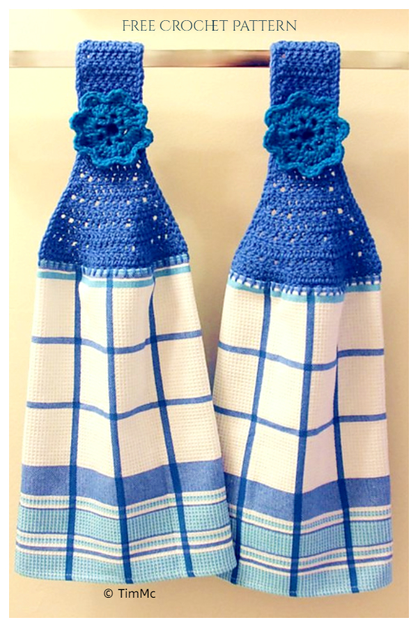 Holiday Towel Topper Free Crochet Patterns