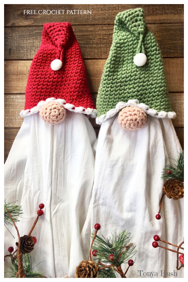 Gnome Towel Topper Free Crochet Pattern + Video