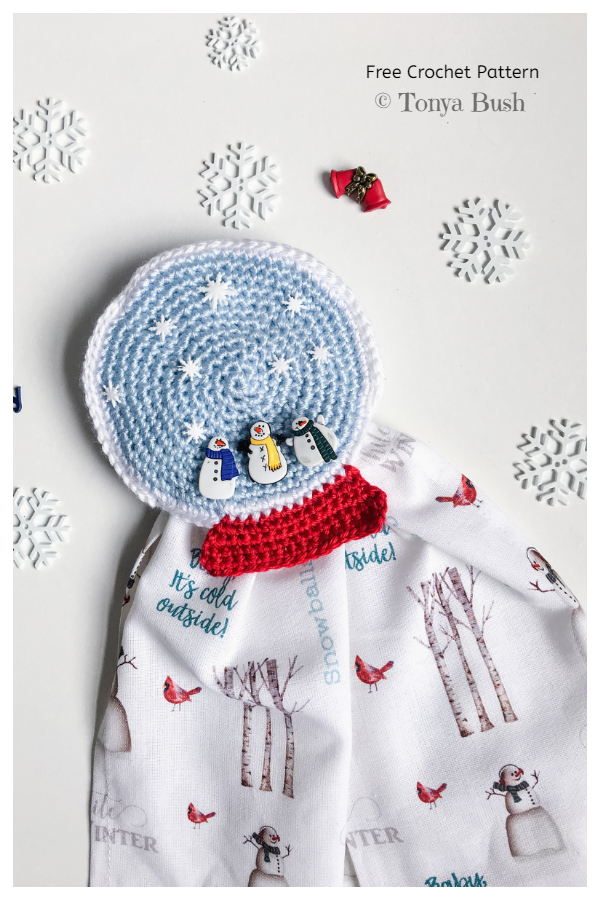 Snow Globe Towel Topper Free Crochet Patterns