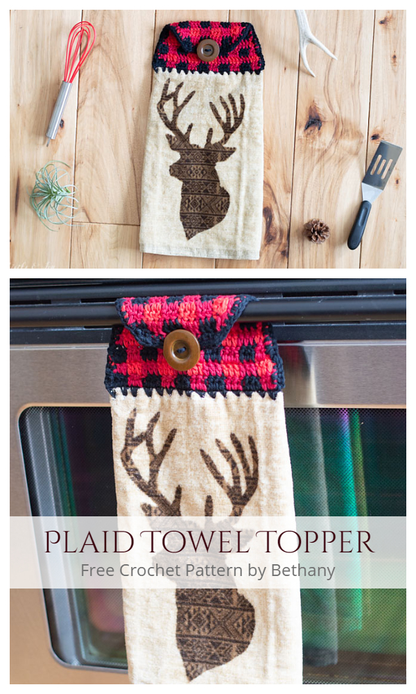 Plaid Towel Topper Free Crochet Patterns