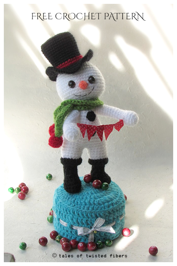 Crochet The Runaway Snowman Amigurumi Free Patterns
