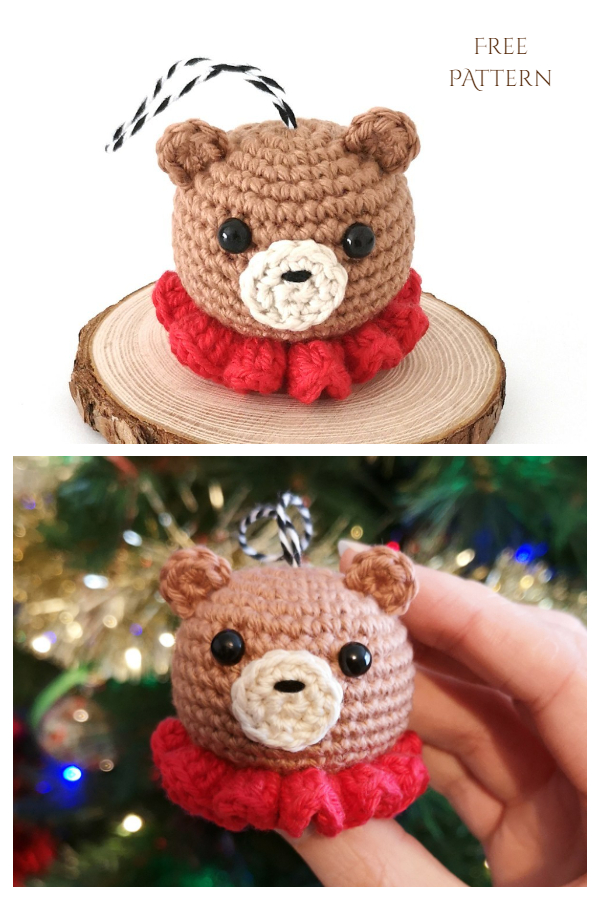 Bear Christmas Bauble Free Crochet Patterns