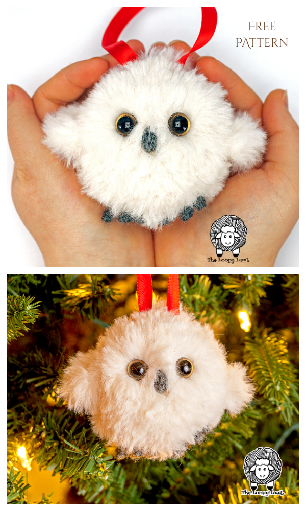 Baby Owl Christmas Bauble Free Crochet Patterns