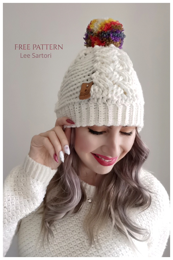 Lee's Cabled Beanie Hat Free Crochet Patterns