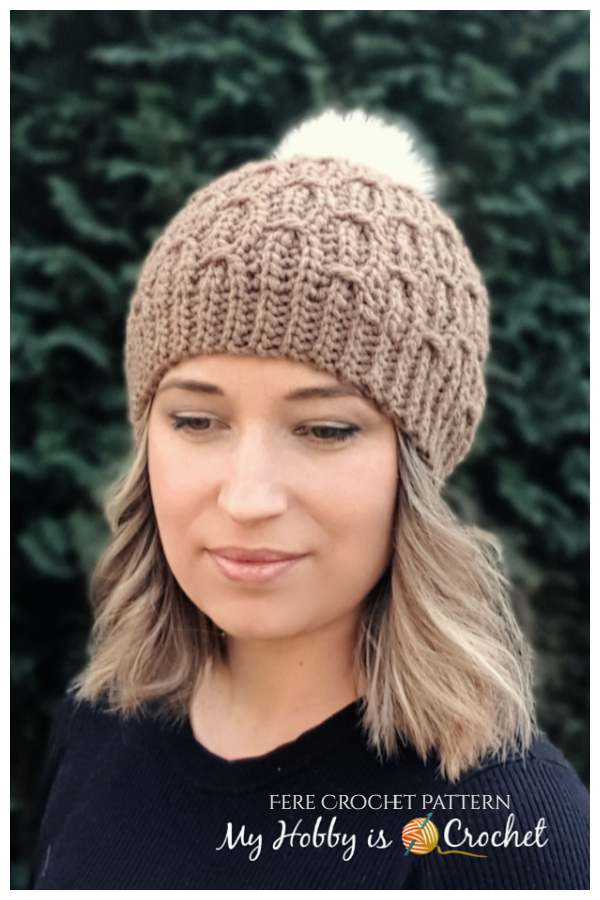 Mock Cable Beanie Hat Free Crochet Patterns