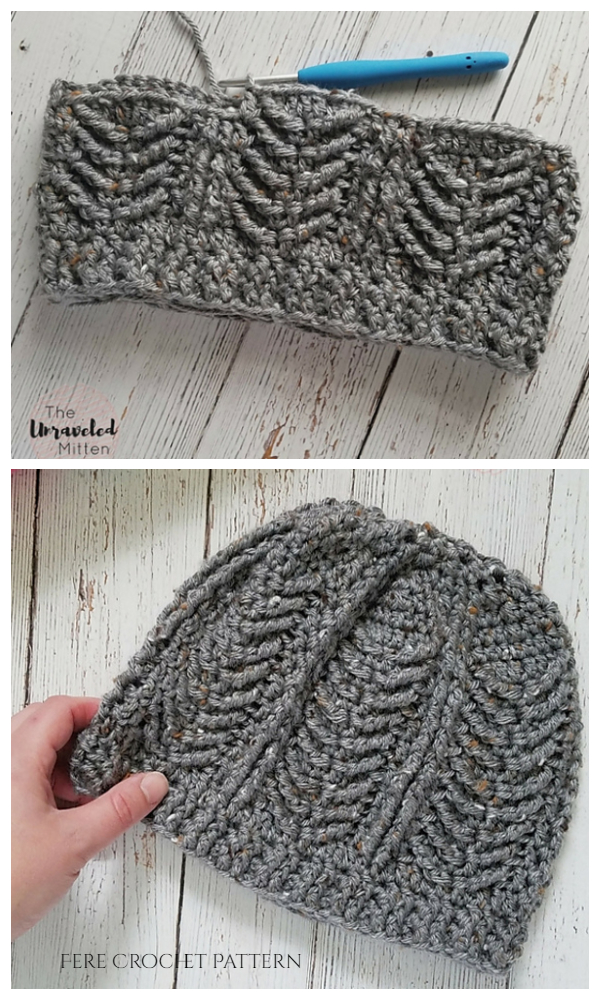 Mackinac Cable Beanie Hat Free Crochet Patterns