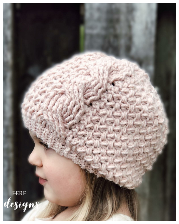 Textured Twist Cable Beanie Hat Free Crochet Patterns