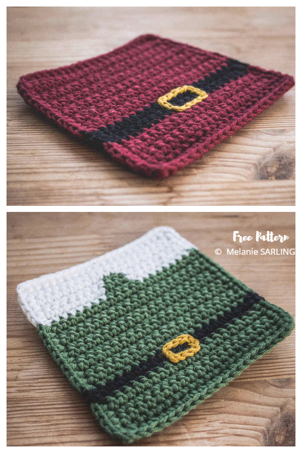 Christmas Coaster Free Crochet Patterns