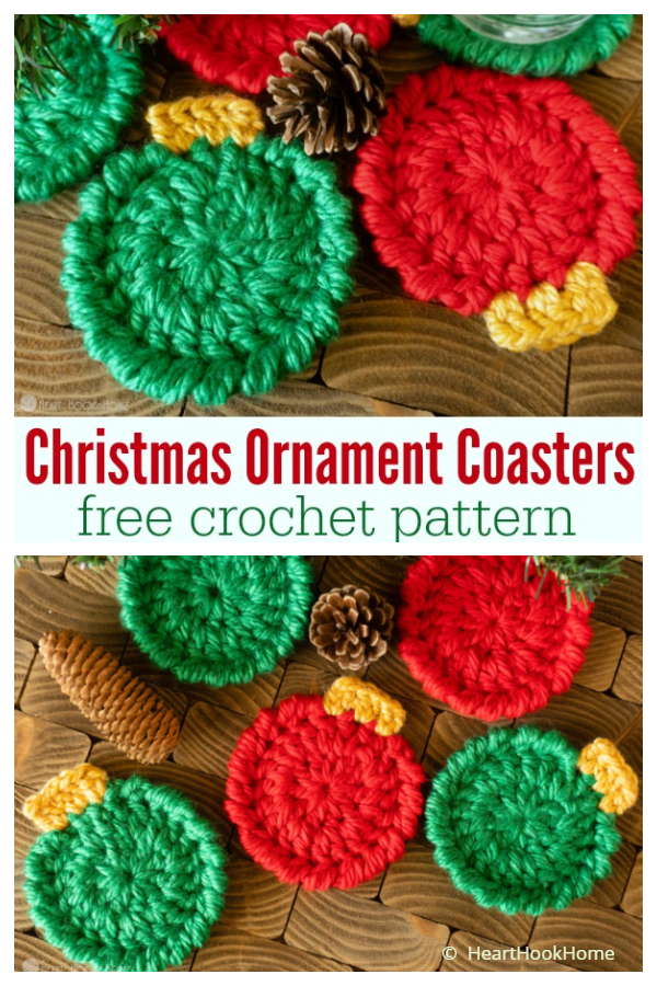 Christmas Ornament Coasters Free Crochet Patterns